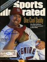 Mark Mcgwire Jsa Coa Signed 1998 Sports Illustrated Authentic Autograph