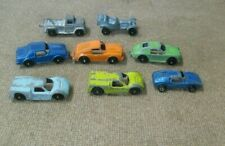 "Tootsie Toy + Die Cast toy vehicles Cars and wrecker truck About 2"" long"