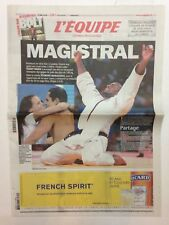 JEUX OLYMPIQUES LONDON 2012 / L'EQUIPE 4 AOUT 2012 TEDDY RINER CHAMPION