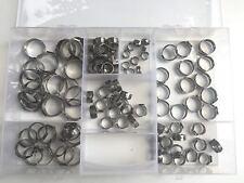 70 Stk Universal 1 Ohr Schlauchschellen Leitungsschelle Schlauchklemmen 5,8-21mm