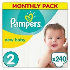 Pampers Nappies Size 2 Baby Nappy Newborn Skin Monthly Pack Sensitive Dry