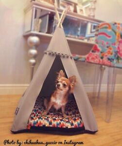 Dog Teepee bed - Pixels, dog bed including pillow*luxury dog house*dog tent