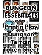 Dungeon Essentials Token Sheet, DIGITAL DOWNLOAD D&D RPG Dragons Dnd Pathfinder