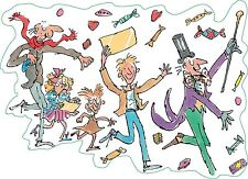 roald dahl CHARLIE AND THE CHOCOLATE FACTORY VINYL WALL ART 60cm wide easy apply