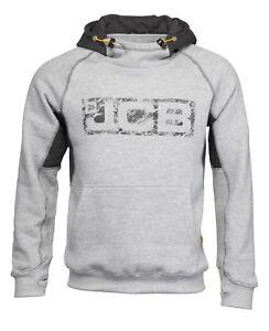 JCB Horton Hoodie Grey & Black (Sizes S-XXL) Work Hooded Jumper Trade Hoody Mens