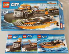 Lego 60085 City Allradfahrzeug mit Powerboot Minifiguren Truck Anhänger Karton