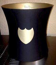 Dom Perignon Pewter Ice Bucket Black & Gold  BRAND NEW  Box  Is Scuffed
