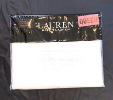New Ralph Lauren Queen 4Pc Sheet Set~White~Dunham Sateen~300 Thread Count