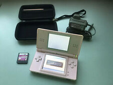Nintendo DS Lite Coral Pink Handheld Console with Original Charger