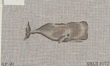 Sara Fitz The Collection Whale Hand Painted Needlepoint Canvas