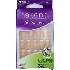 Nailene so natural chip proof artificial nails petite