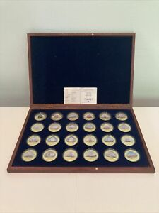 Windsor Mint The Most Famous Sailing Ships of the World 24K Gold Plate Coin Set