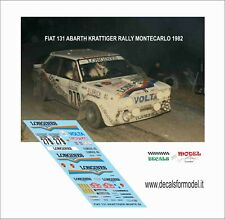 DECALS 1/18 FIAT 131 ABARTH LONGINES KRATTIGER RALLY MONTECARLO 1982