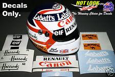 Nigel Mansell Arai 1:2 Helmet Missing Decals Stickers cut Vinyl 1992 F1 Champion