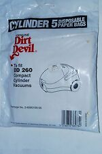 GENUINE PAPER BAGS FOR DIRT DEVIL DD260 ETC 2-60000100-05