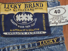 "VINTAGE LUCKY BRAND sz 2/26 ""#40 LOW RISE EASY FIT FLARE"" BLUE JEANS   (1130-11)"