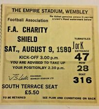 More details for liverpool v west ham utd f.a. charity shield match ticket 9/8/1980 wembley.