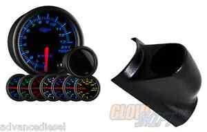 03-07 Ford Super Duty GlowShift Tinted 7 Color 1300Celsius EGT Gauge & Black Pod