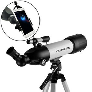 Visionking Refractor 80mm Astronomical Telescope Large Tripod  & phone adapter