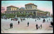 ITALY STAZIONE CENTRALE NAPOLI 1900s PC NAPLES