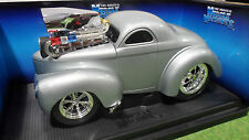 WILLYS COUPE Gris au 1/18 MUSCLE MACHINES 61185 voiture miniature