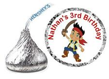 216 JAKE AND THE NEVERLAND PIRATES BIRTHDAY PARTY FAVORS HERSHEY KISS LABELS
