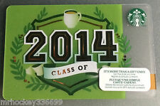 Starbucks Canada CLASS OF 2014 collectible Gift Card (no cash value)