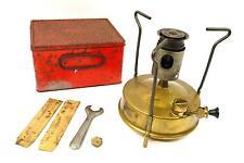 Vintage Brass Paraffin Camping Stove - Primus / RM / Belgrave