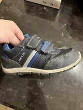 Geox Boys Toddler Sneaker Navy Blue Euro Size 26 US Size 9 EUC