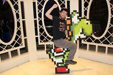 Yoshi pixel cosplay 8-bit costume from Super Mario World