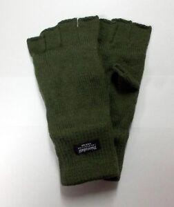 Handschuhe Fingerlinge Thinsulate Strickhandschuhe dick gefüttert Oliv Grün Fein