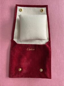 Genuine Cartier Watch Travel Pouch Service Case With Cushion