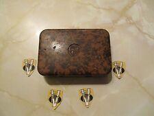 RARE Vintage Hardy NERODA Gilet Pocket Dry Fly Box no.5 con mosche