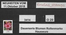 O29 BRD 11.Oktober 2018 Mi.-Nr.: 3414 HAUSWURZ von der Rolle ohne Nummer