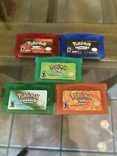 Pokemon Emerald Ruby Sapphire FireRed LeafGreen GBA Game Cards Gameboy Cartridge
