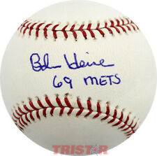 BOB HEISE SIGNED AUTOGRAPHED ML BASEBALL INSCRIBED 69 METS TRISTAR