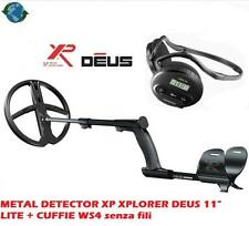 "XP DEUS METAL DETECTOR HEADPHONES with 11 ""LITE PLATE WS4 XPLORER"