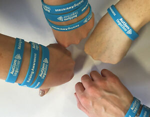 Autism Awareness Charity Wristband - Blue