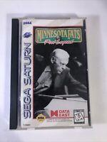 Minnesota Fats Pool Legend Sega Saturn 1995 Complete Long Box