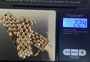 9ct Gold Panther Link Bracelet