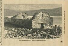 ANTIQUE RUINS OF THE NORTH CHRUCH AT KRAKORTOK SOUTH GREENLAND OLD SMALL PRINT