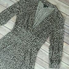 Banana Republic Wool Blend Leopard Print 3/4 Sleeve Knee Length Dress Size M