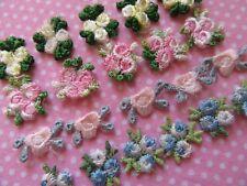 80 Embroidery Venise Lace Rose Flower Applique/Dress/Trim/sewing-4 Colors