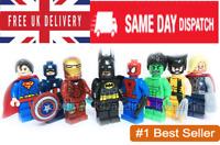 8Pcs Avengers Superheroes Batman Hulk Superman Mini figures DC Comic Toys