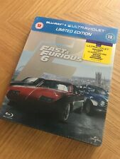 The Fast And Furious 6 Blu Ray Steelbook *New and Sealed* Freepost