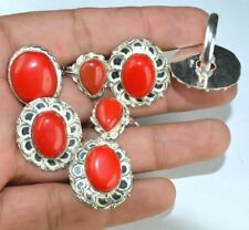 New Fashion Red Onyx Gemstone 925 Sterling silver Overlay Lot Rings 10pcs