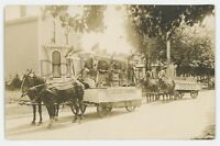 RPPC Cascadee Foundry Floats Advertising Parade ERIE PA? Real Photo Postcard