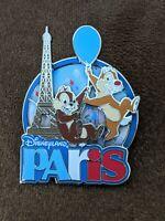 Disney Pin Trading DLP Disneyland Paris Chip And Dale Eiffel Tower Pin