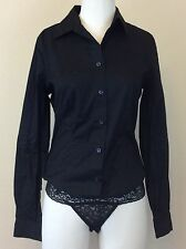New! MODA International Black Long Sleeve Shirt w/ Lace Underwear Size SMALL