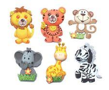 "12 (6 Styles) Foam Jungle Animals 3"" Tall Baby Shower Birthday Noah's Ark Theme"